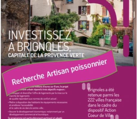 Recherche artisan poissonnier-écailler - locaux disponibles à Brignoles (83)