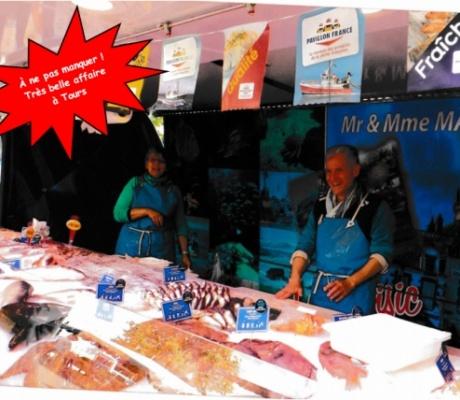 À ne pas manquer ! à vendre une très belle affaire de poissonnerie sur les marchés de Tours (Indre et Loire)