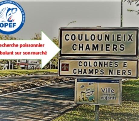 Recherche poissonnier ambulant sur le marché de Coulounieix-Chamiers, proche Périgueux